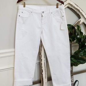 NWT - 7 For All Mankind White Distressed Jeans